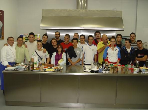 Alumnos en una visita a Matachana con el Chef Alfonso Salido