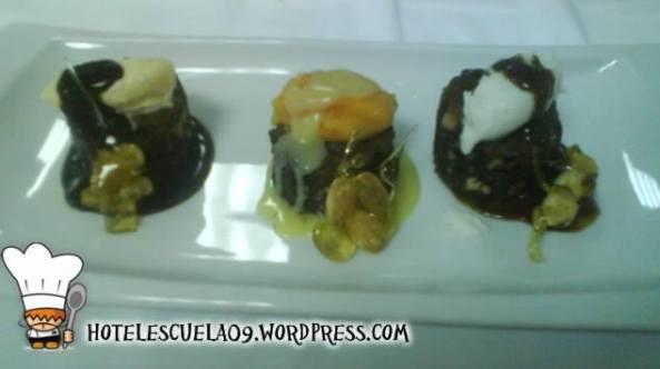 mini brownies con heladitos