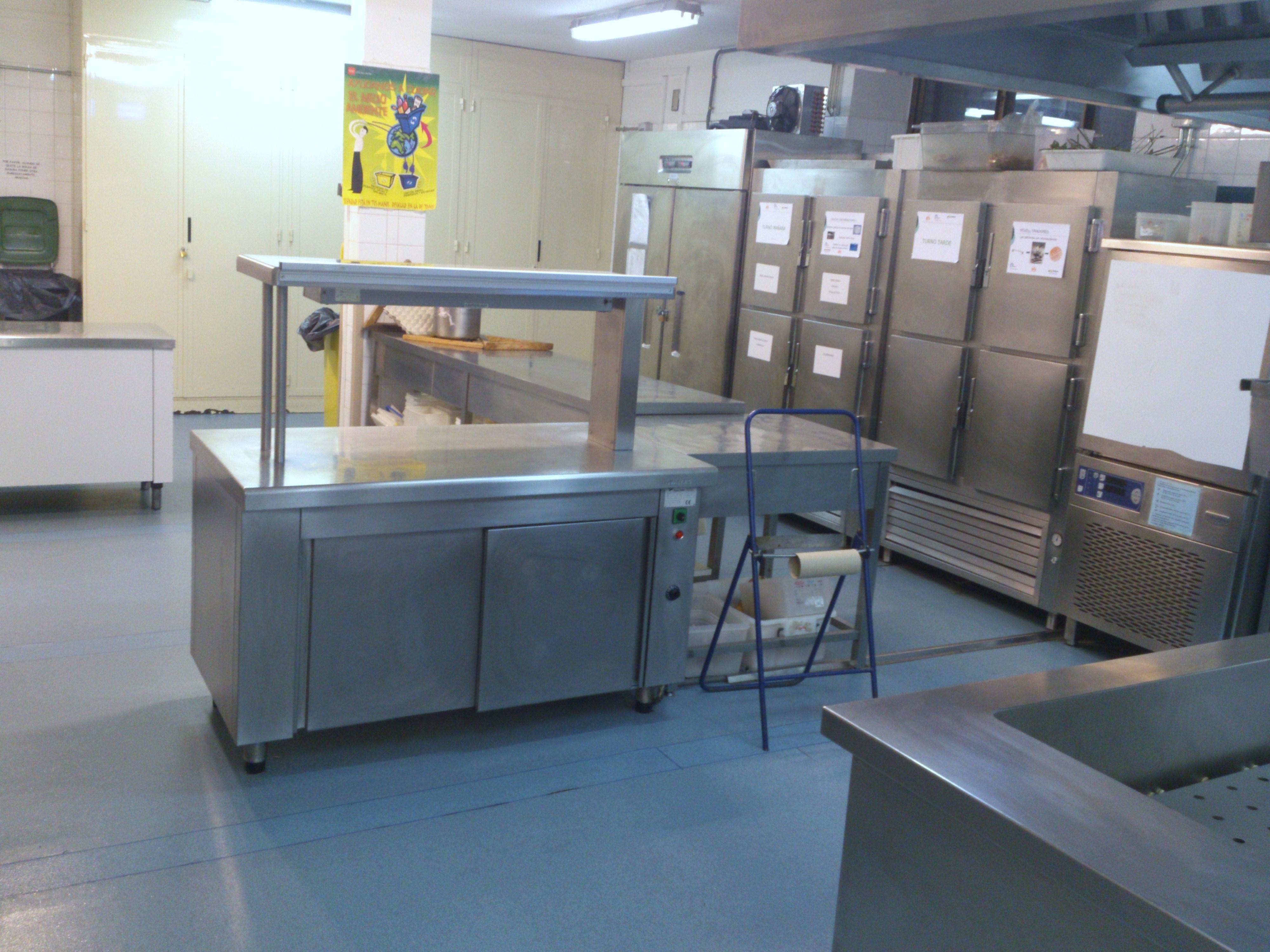 Cocina de 1 hotel escuela de la comunidad de madrid - Cuarto frio cocina ...